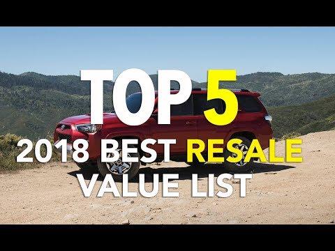 2018 Top 5 Resale Value List - Spoiler: It's all Trucks and SUVs - Dauer: 3 Minuten, 8 Sekunden