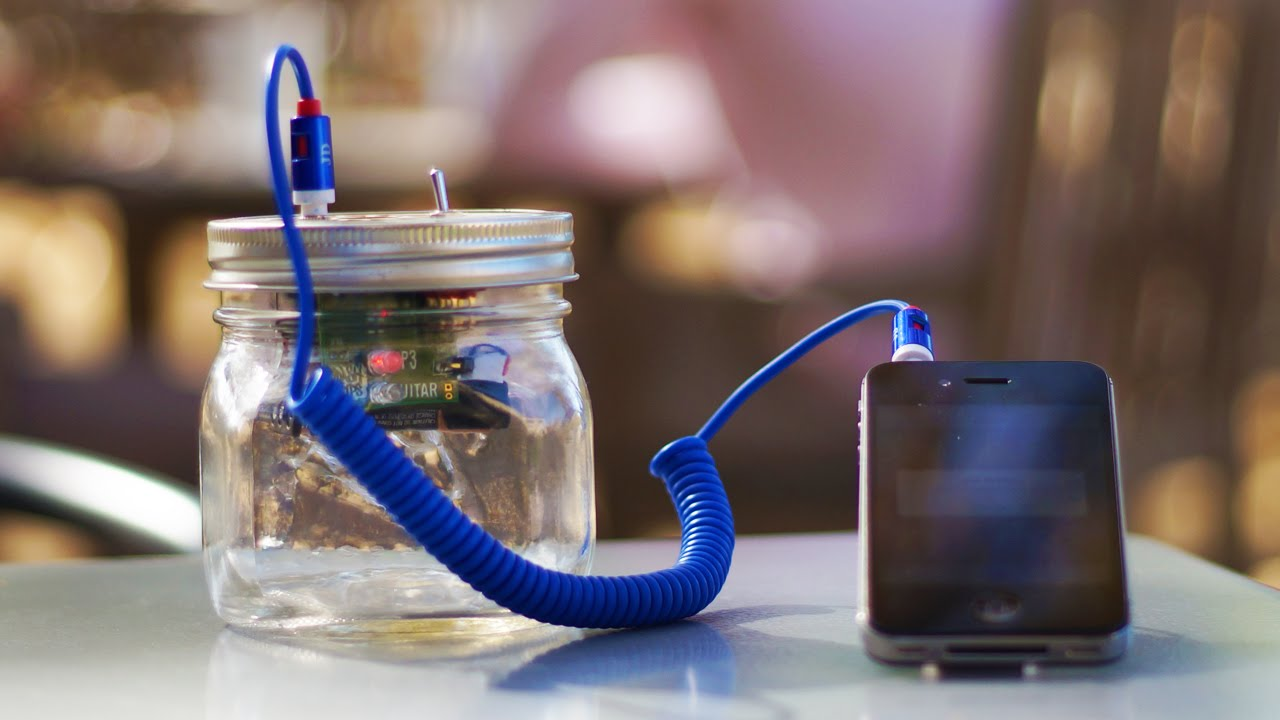 build your own mason jar speaker for smartphone and electric guitar build diy mason