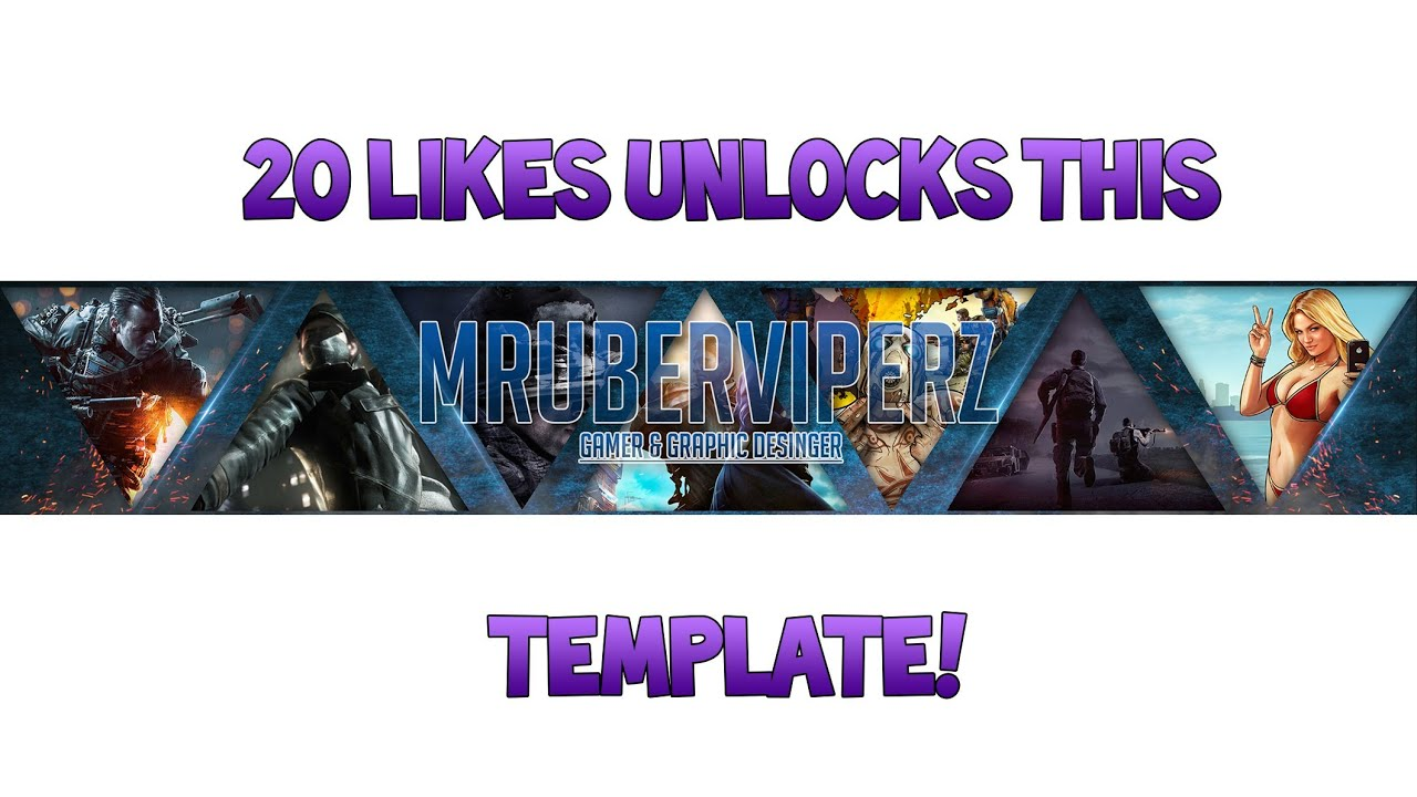 free template gaming channel art banner by ryzeusgraphics youtube