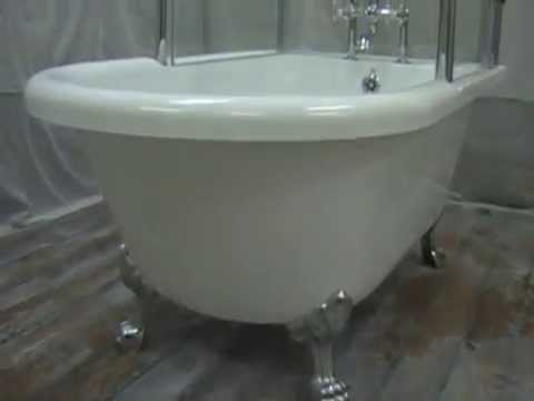 Oasis Clawfoot Tub Shower Combination   YouTube
