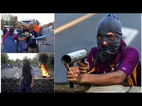 Protesters use homemade mortars as two people killed in Nicaragua