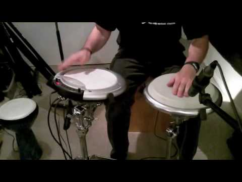 Korg WaveDrum with LP Compact Conga