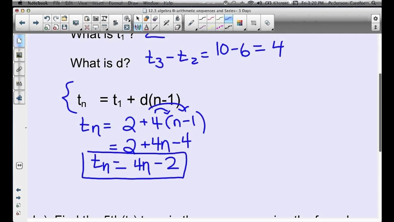 Using the Explicit Formula in Arithmetic Sequence - YouTube