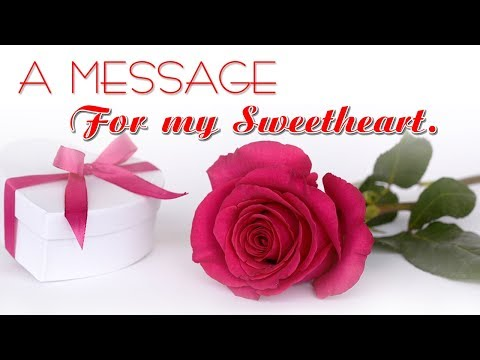 ❤💕A Sweet message for someone special