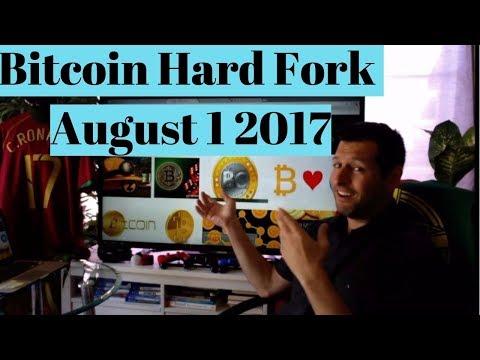 Bitcoin HARD FORK LIVE August 1, 2017