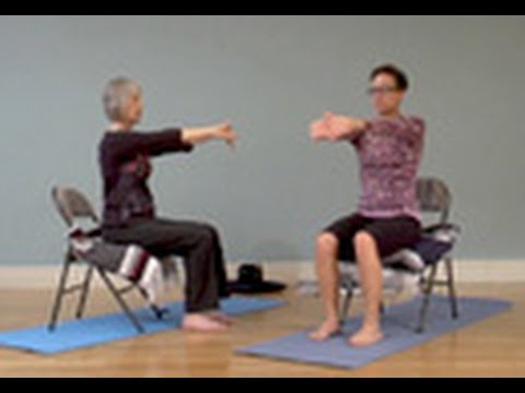 Gentle Chair Yoga For Neck And Shoulders Free Chair Yoga Class Youtube