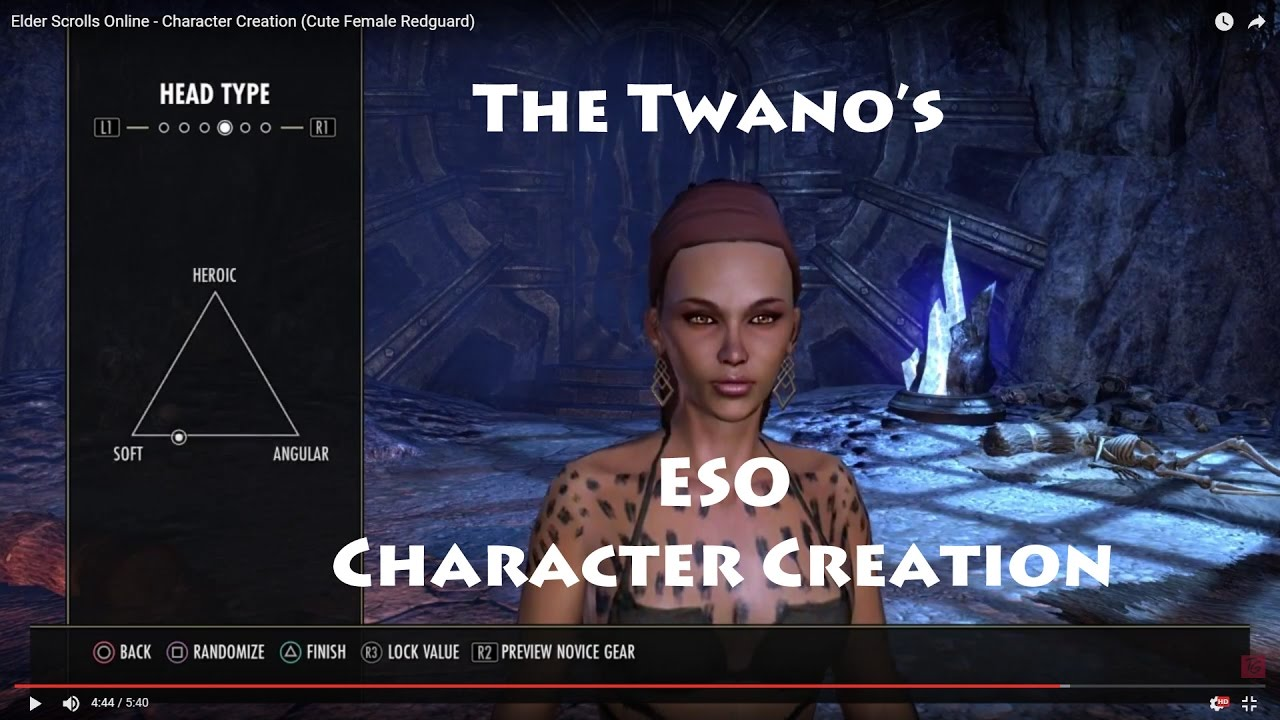 Elder Scrolls Online - Character Creation (Cute Female ...Redguard Elder Scrolls Online