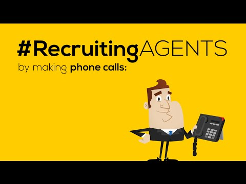 Cold calling agents and prospecting for recruiting