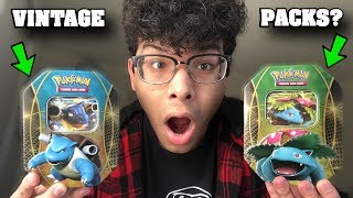 THESE POKEMON CARD TINS HAVE A 50/50 CHANCE AT HAVING VINTAGE PACKS!? **crazy**