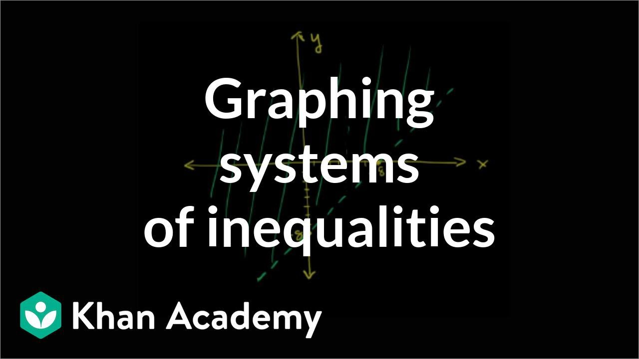 Intro to graphing systems of inequalities (video) | Khan Academy