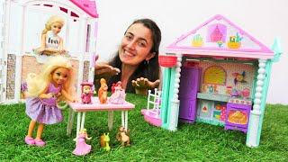 Barbie oyunları. Sevcan Chelsea için süpriz oyun evi kuruyor