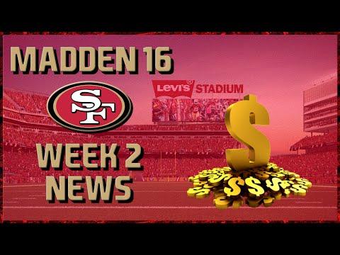 Madden 16 Franchise: San Francisco 49ers | Year 5, Week 2 News | HUGE SIGNING