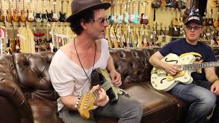 Joe Bonamassa & Doyle Bramhall II on the couch with Norm at Norman's Rare Guitars thumbnail
