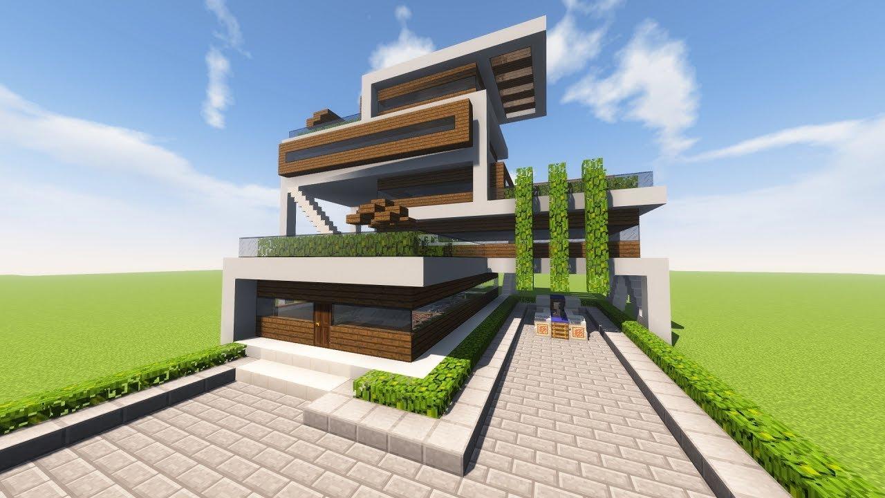 Строительство домов в майнкрафте в стиле хай тек