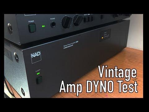 Vintage NAD 2200 Power Envelope Audio Amplifier Dyno Test