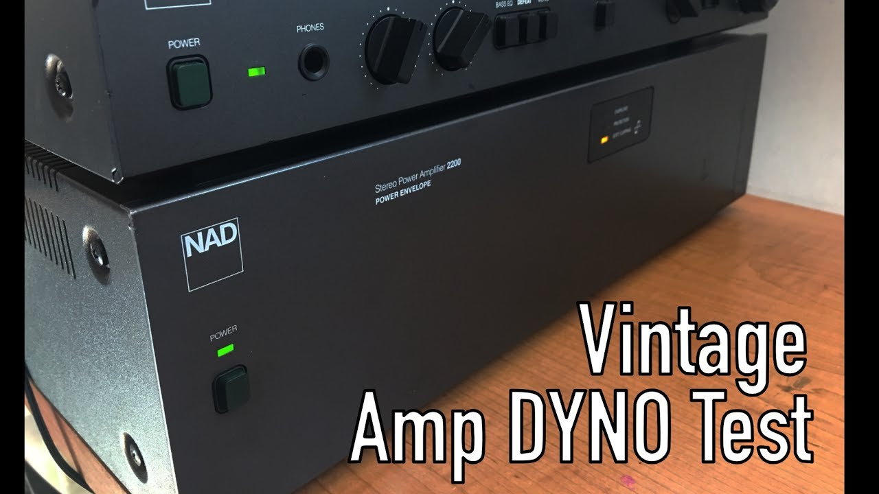 vintage nad 2200 power envelope audio amplifier dyno test [ 1280 x 720 Pixel ]