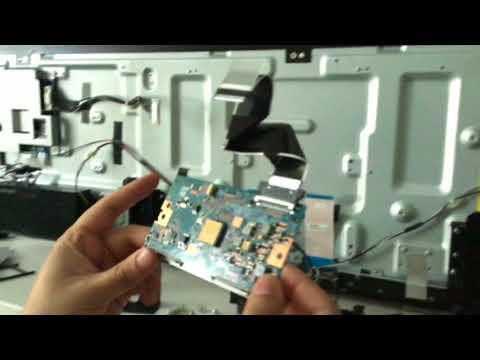 Вертикальные Полосы На Экране Телевизора Sony Bravia KDL-50W808C ( Vertical Lines On LCD TV)
