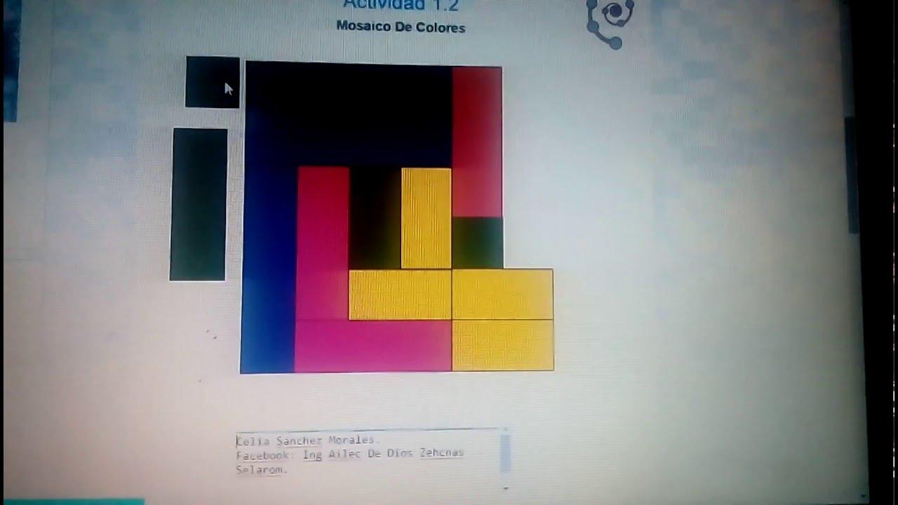 Pensamiento heur stico mosaico de colores youtube - Mosaico de colores ...