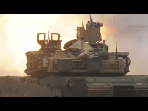 M1A2 Abrams TANK CREWS conduct LOUD LIVE FIRE during exercise 'Danube Fury' in ROMANIA!