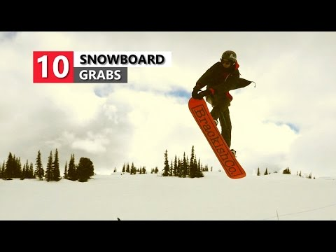 10 Snowboard Grabs - Snowboarding Trick List