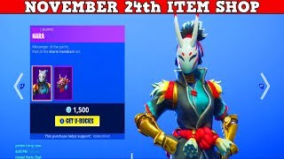 Fortnite Item Shop (24 novembre) LOOK AT THESE 'NEW' SKINS LOL!