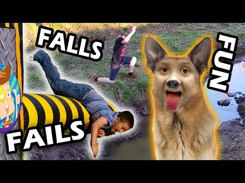 FUNNY FALLS and FAILS!  The Kid Parkour Gladiators? (FUNnel Vision May 2015 Compilation w/ Dog Boy)