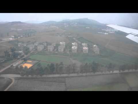 Ilyushin 18D landing to Pyongyang Sunan International Airport, North Korea