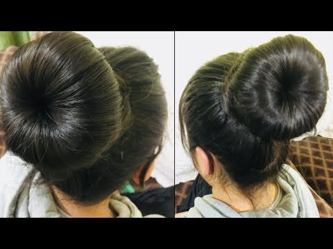 Donut Bun Hairstyle Hairstyle Juda Quick And Easy Hairstyle