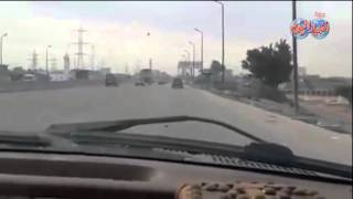 """CXمطاردة حية من """"قوات أمن الإسكندرية"""" لـ""""سائق شاحنة"""" هاجم كمين شرطة.. تنتهي بالإستسلام"""