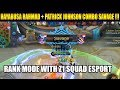 HAYABUSA SAVAGE COMBO WITH Z1 SQUAD ESPORT RANK MODE - Mobile Legend Bang Bang