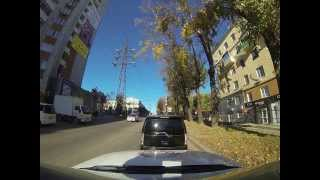 Driving out of Khabarovsk, Russia (2/3)