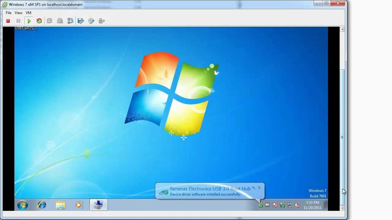 How to configure ESXi 5 0 for USB 3 0 passthru to a Windows Virtual Machine