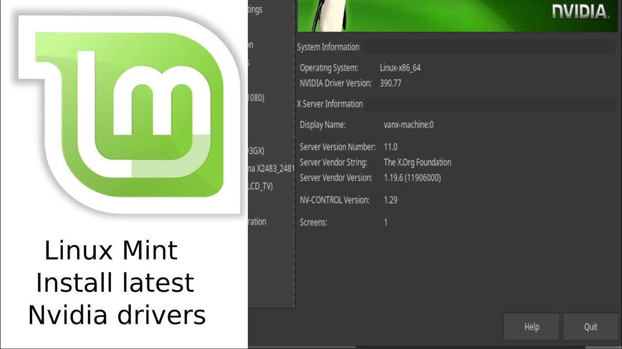 Install latest NVIDIA drivers for Linux Mint 19/Ubuntu 18 04