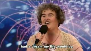 Repeat youtube video [中文字幕]英國星光大道選秀Susan Boyle唱『I Dreamed a Dream』蘇珊鮑伊驚艷全場