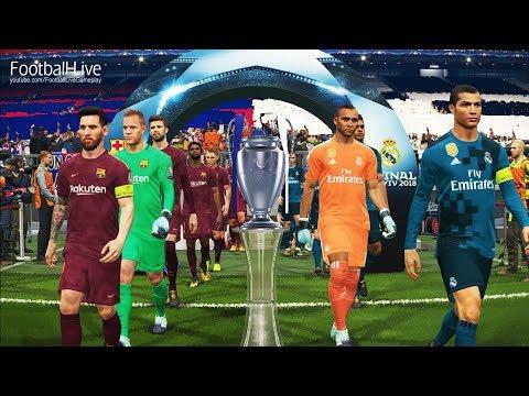 PES 2018   Real Madrid vs Barcelona   Free Kick Goal   Final UEFA Champions League [UCL]