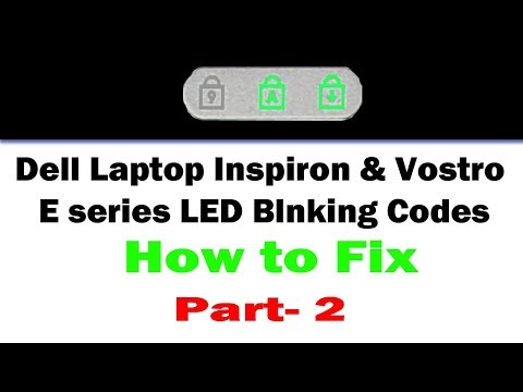 Dell LED Blink Errors -2 - YouTube