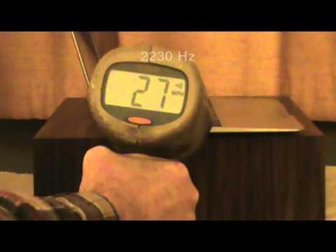 Can Speed Radar Measure Music?