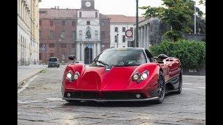 Horacio Pagani drives his Zonda F in Milan !!!