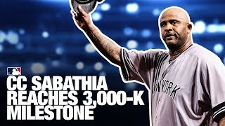 Sabathia reaches 3,000 strikeout milestone!