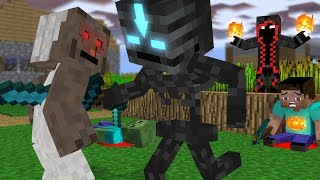 Monster School : Elements Bending with Granny - Minecraft Animation