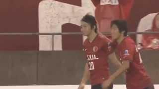 柴崎 岳(鹿島)のカーブがかかった見事なゴール! J1第20節 鹿島vs甲府