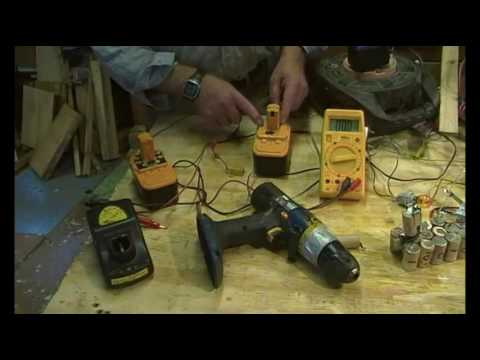 Drill and power tool batteries, charging, conditioning and repair.