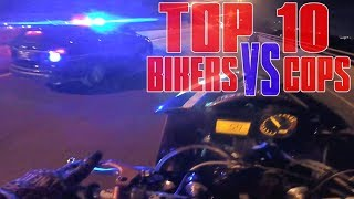 TOP 10 Motorcycle POLICE CHASE Compilation 2016 Street Bike VS Cops Bikers ESCAPE Running From Cops