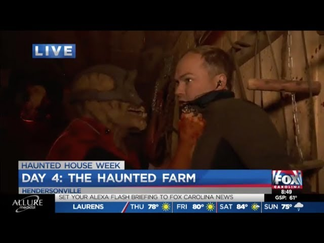 The Haunted Farm 2019 | Joe Gagnon of Fox Carolina News Hangs Out with The Butcher