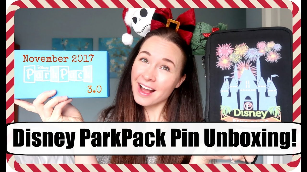 Unboxing Disney ParkPack 3 0 Pin Subscription + Pinfolio! | Vlogmas 2017,  Day 4