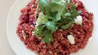 Beetroot, Walnut & Goats Cheese Risotto - Video Recipe