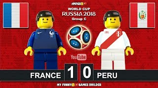 France vs Peru 1-0 • World Cup 2018 (21/06/2018) All Goals Highlights Lego Football ( Francia Perù )