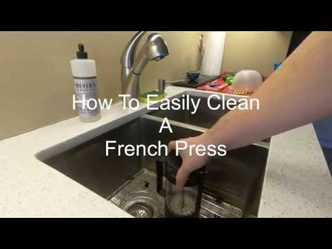 How to EASILY CLEAN a FRENCH PRESS