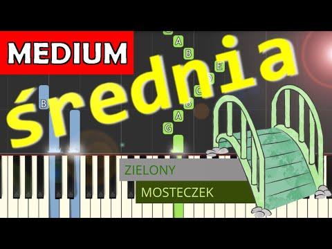 🎹 Zielony mosteczek - Piano Tutorial (średnia wersja) 🎹