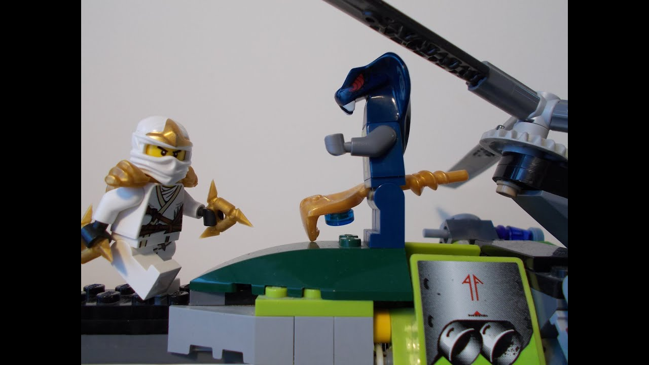 Lego Ninjago Stop Motion Fight Zane Vs The Hypnobrai Fight Or